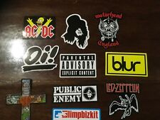 Rock and roll stickers ACDC bar ware poster man cave flag banner print
