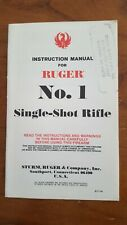 Original Ruger No.1 Single Shot Rifle Instruction Manual, 11/91