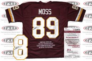 Santana Moss Signed Custom Washington Pro Style Jersey JSA Witnessed