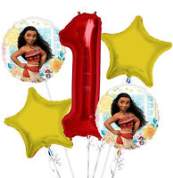 New Disney Moana 1st Birthday Balloon Bouquet 5 pieces