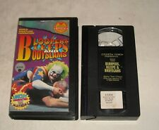 VHS TAPE in CLAM SHELL CASE - WWF BLOOPERS BLEEPS & BODY SLAMS DOINK the CLOWN