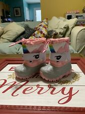 Cat & Jack Girls Size 5 Toddler Thermolite Unicorn Winter Boots Warm Brand New