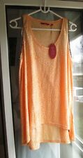 EDC ESPRIT TUNIKA LONG TOP SHIRT AUSBRENNER MUSTER ORANGE M, 38 NEU