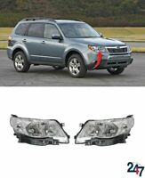 FRONT HEADLIGHTS LAMPS PAIR SET N/S LHD COMPATIBLE WITH SUBARU FORESTER 08-13