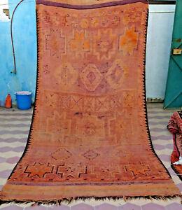 Moroccan Vintage Berber Rug Mzouda 11'8x5'4 Handmade Berber Boujaad Geometric