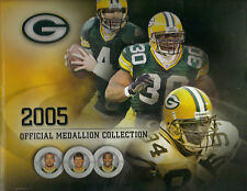 Great Green Bay Packers 2005 Official Medallion Collection Folder Rogers Favre