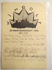 Eisenach - Wingolf - 1928 - 37. Wartburgfest / Studentika