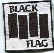 BLACK FLAG LOGO WHITE PATCH (MBP 213)
