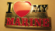 I Love My Marine--- Lapel pin,Tie Tack,Hat pin