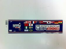FIFA Women's World Cup Soccer USA 2003 Sticker Carson California - NEW