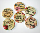 INSPIRATIONAL SAYINGS Set of 6 Large FRIDGE MAGNETS Positive Affirmations Gift