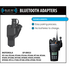 Earphone Connection Blue-Wi Bluetooth Wireless Adapter for Motorola XTS Radios
