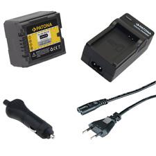 Batteria Patona + caricabatteria casa/auto per Panasonic Lumix DMC-L10,DMC-L10K