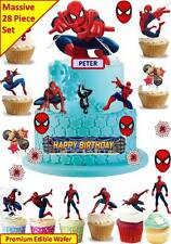 SPIDERMAN Cup Cake Scene Topper Wafer Edible Birthday Party STAND UP CUSTOM