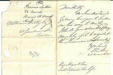 * 1822 local Dublin h / s 1 lettre & Rouge Ovale temps Mark Francis Sutton pour WM Kelly