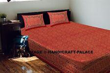 Anokhi Hand Block Print Cotton Bedsheet Indian Sanganeri Bedcover Bedspread Set