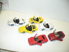 Lot de 6 voitures de luxe et de course, 1/35 a 1/38, maisto tout en métal, lot 1