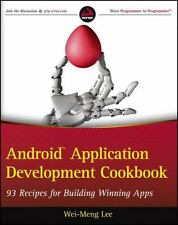 Android Application Development Cookbook: 93 Recipes for Building Winning Apps,