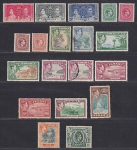 Jamaica 1937-1952 King George VI Collection 42 Stamps SCV $119.35