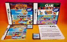 Battleship/Connect Four/Sorry/Trouble + Clue Mouse Trap -Nintendo DS DS Lite 3DS