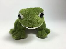 RAIN FOREST CAFE Plush Small Green Frog Makes Ribbet Sound