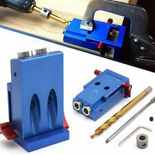 Pocket Hole Jig Kit System Mini Kreg Style Wood Joinery Tool w/ Step Drill Bit