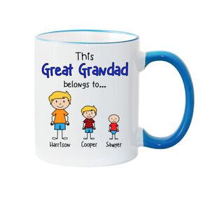 Great Grandad Mug - Personalised Mug - Fathers Day Mug - Grandad gift