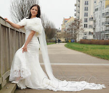 Ivory Brautbolero Bolero Braut Brautjacke Brautjäckchen Hochzeit Kunstpelz Fell