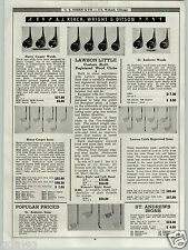 1939 PAPER AD Lawson Little St. Andrews Harry Cooper Golf Clubs Irons Woods