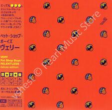 PET SHOP BOYS VERY / RELENTLESS 2 CD MINI LP OBI + bonus tracks new sealed