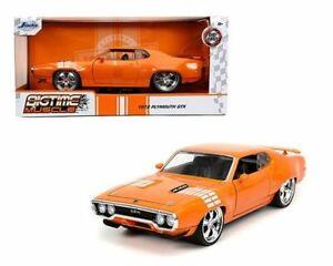 1:24 1972 Plymouth GTX -- Orange -- JADA