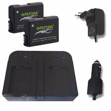 Doppel-Ladegerät + 2 x Premium Akku für Nikon D3100, D3200, D3300, D3400 EN-EL14