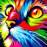 DIY 5D Diamond Painting Lion Cat Embroidery Animal Cross Stitch Kit Home Decor