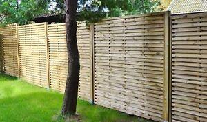 Contemporary Garden Screens, Modern Treated Fence Panels, The Monaco 180x180cm