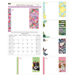 2022 Wall Memo Family Calendar with Shopping Pad & Pen Wipe Spiral Bound Xmas