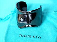 Tiffany & Co Elsa Peretti Black Bone Cuff for Right Wrist Size Medium
