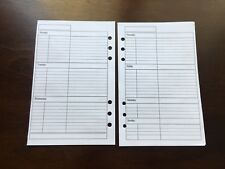 WEEKLY Undated Refill for A5 6-Ring Planner Organizer Insert (fits Filofax)