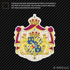 Swedish Coat of Arms Sticker Decal Self Adhesive Vinyl Sweden flag SWE SE