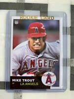 2011 MIKE TROUT Rookie Card Logo 1953 Style LA Angels ACEO Card MVP ROY MINT!