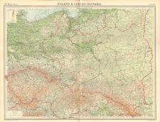 1920 ANTIQUE MAP- POLAND & CZECHOSLOVAKIA