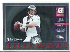 2001 DONRUSS ELITE JOHN ELWAY TITLE WAVES #rd 1996