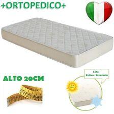MATERASSO A MOLLE ORTOPEDICO ANTI-ACARO LATO ESTATE/INVERNO SINGOLO 80X190