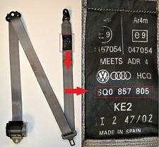 VW Polo Seat Belt Passengers Side Rear 2002 to 2005 Hatchback Gray 6Q0 857 805
