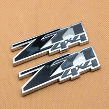 Pair Car Body Black & Gray Coated Z71 Badge 4x4 Chrome Emblem for GMC Avalanche