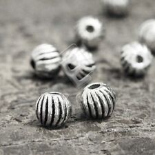 400pcs Tibetan Silver Spacer Loose Charm Beads DIY Jewelry Round 4.5x4.5x4mm EB