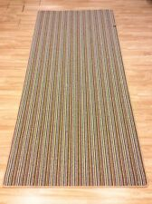 Striped Mississippi Crucial Trading Wool Brown Multi Col Rug XL 124x267cm 60 off