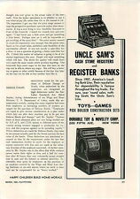1942 PAPER AD Uncle Sam's Toy Cash Store Register Banks