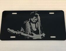Jimi Hendrix  Car Tag Diamond Etched Picture on Aluminum License Plate