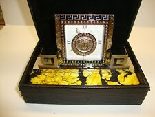 GIANNI VERSACE silver chrome plated Desk Clock with Medusa from 1996