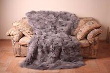 Light Purple fox fur blanket throw comfort softness best quality gift wedding